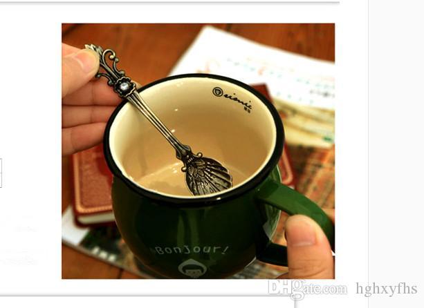 기타 비즈니스 익스프레스 / Spoon 아연 합금 유럽 유형 고대의 방식을 복원하는 커피 고급 커피 아름다운