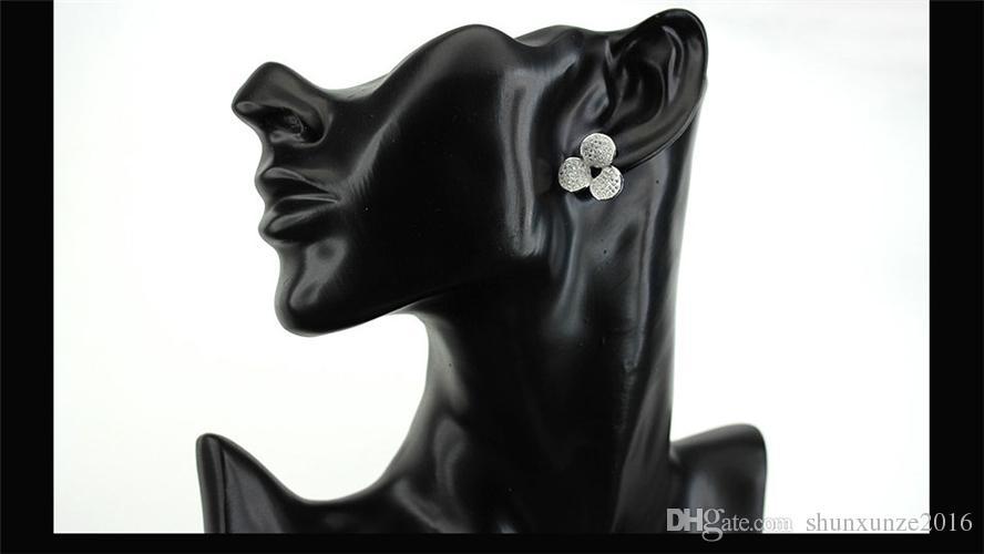 신제품 프로모션 좋아하는 베스트 셀러 빈티지 MN3156 클래식 화이트 큐빅 지르코니아 싱잉 구리 로듐 도금 패션 귀걸이