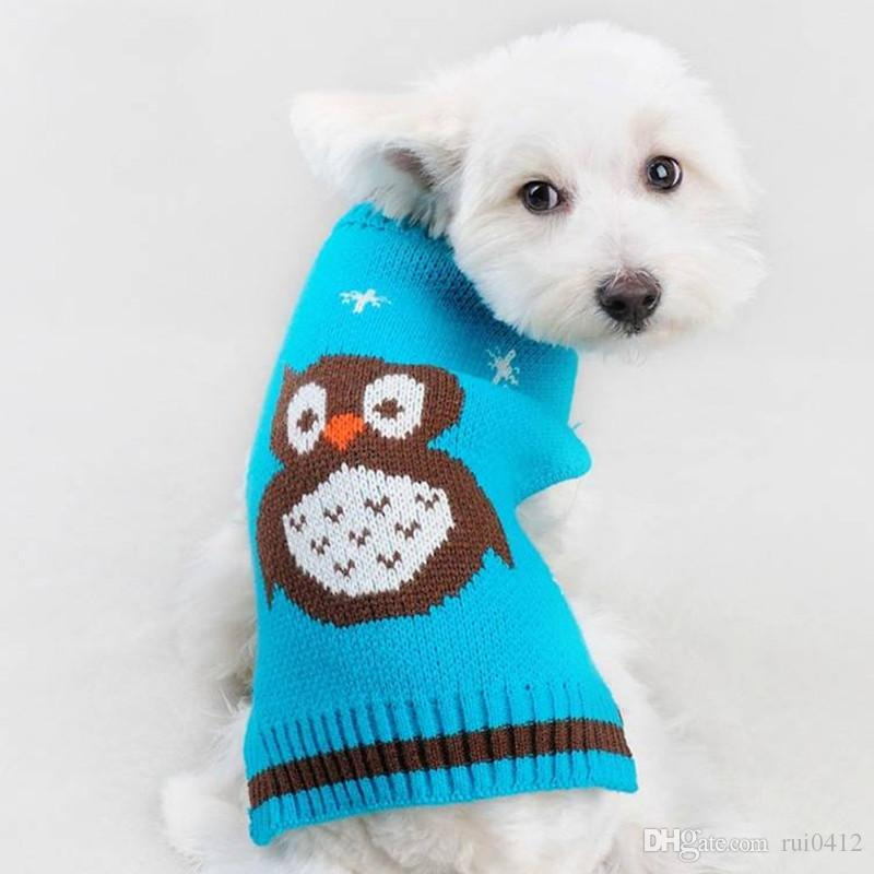 2016 New Dog Autumn Winter Warm Thick Owl Design Dog Coat Clothes ...
