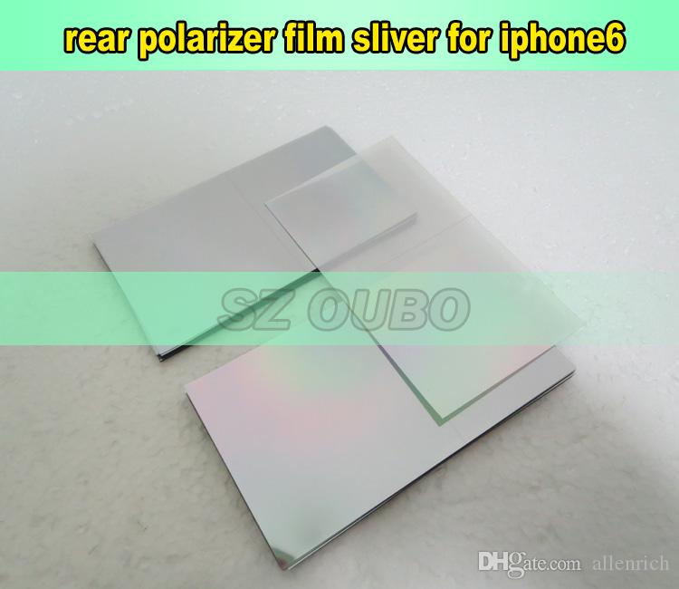 Original silver film For iPhone 6 4.7inch lcd screen on the back polarized light film