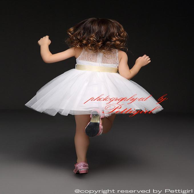 Pettigirl 2016 Flower Girl Christening Wedding Party Lace Dress Baby First Communion Dresses Toddler Gowns Children Clothing GD50611-2