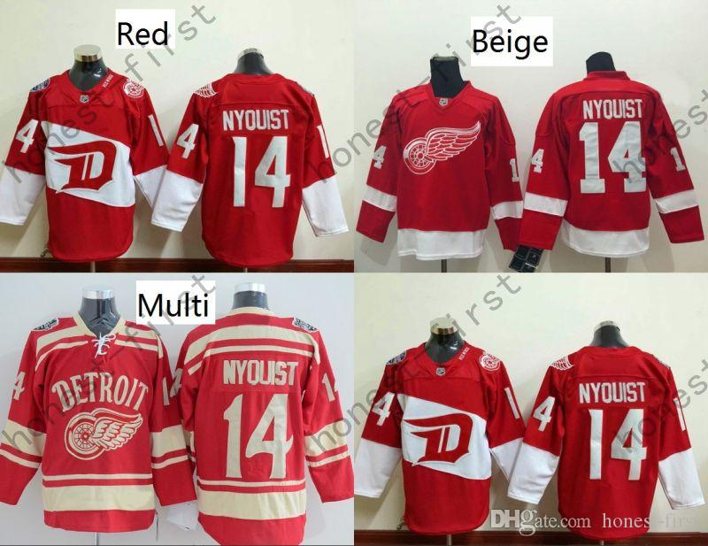 Cheap Wholesale Gustav Nyquist Jersey #14 Home Winter Classic 2016 Stadium Series Detroit Red Wings Hockey Jerseys Stitched