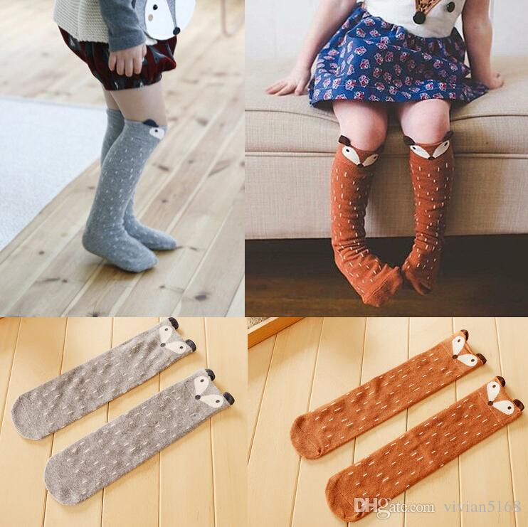 Fox Socks Baby Animal Socks Girl Knee High Socks Cute Baby Girl Long