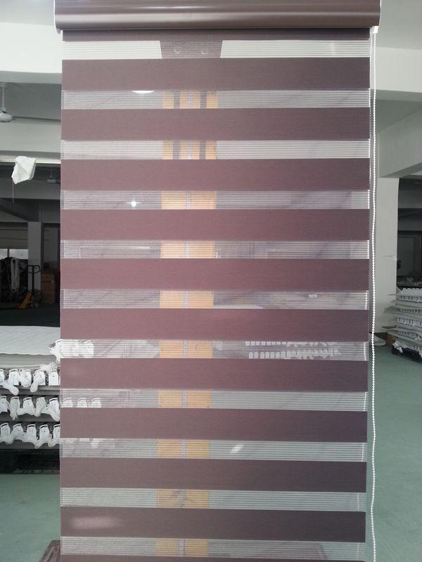 2018 Translucent 100 Polyester Zebra Blinds In Dark