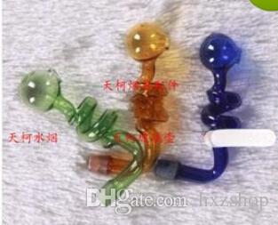 Цвет спираль горшок водопроводные трубы из стекла аксессуары 100шт