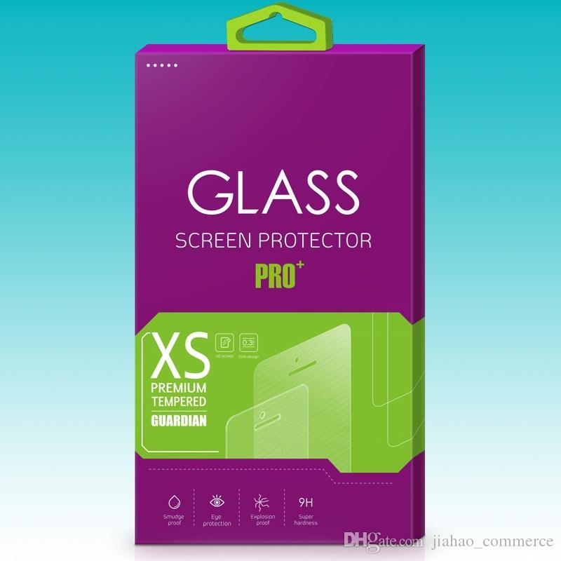 다채로운 성격 디자인 강화 유리 화면 보호기 소매 패키지 상자 DHL에 의해 휴대 전화 액세스에 대 한
