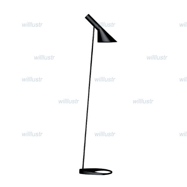 Louis Poulsen Arne Jacobsen AJ Gulv lamp AJ floor lighting Denmark Modern light Louis Poulsen AJ floor Light free shipping