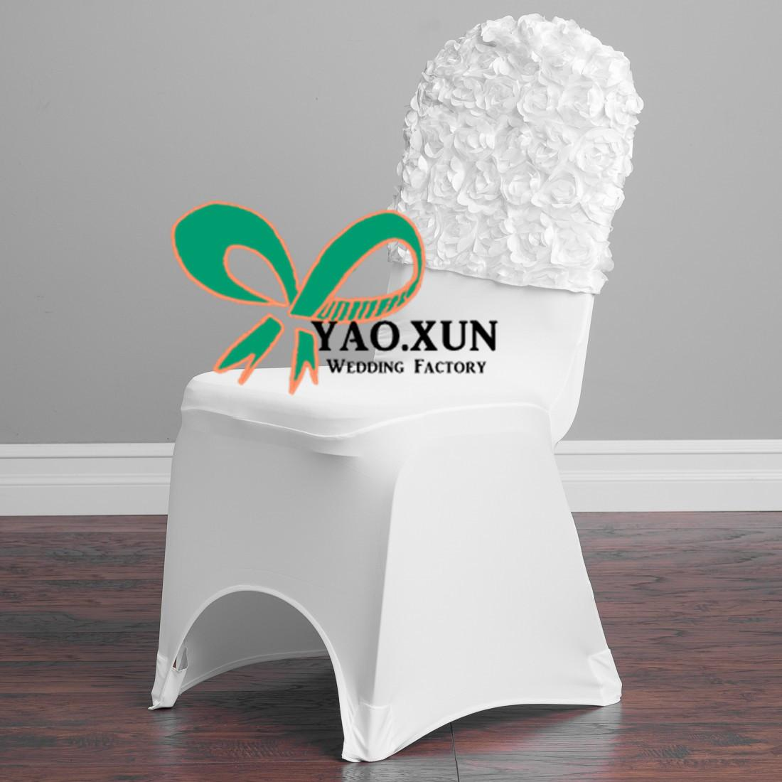 High Thick Satin Rosette Chair Cap \ Hood Used For Banquet Spandex Chair Cover