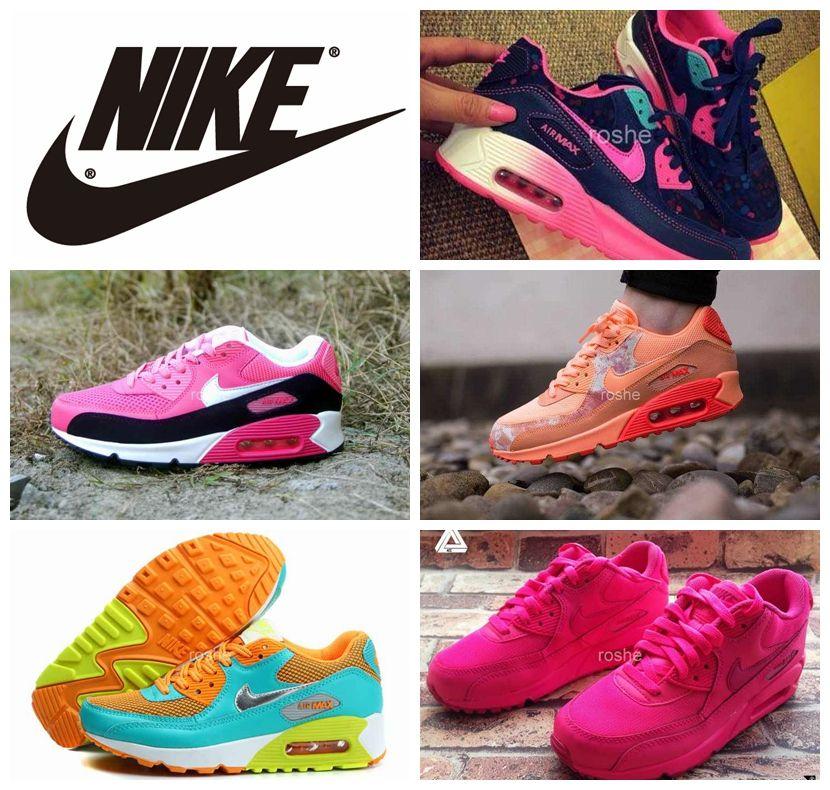 Acheter Nike Classique Air Max 90 Chaussures De Course Pour Les Femmes,  Leopard Floral Colorful Respirante Athletic Sport Air Maxes Sneakers Eur 36  40 De ...