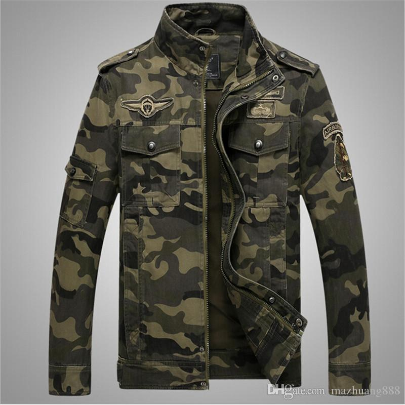 HOT Military Camouflage Jackets Mens 2017 American Army Camouflage Jacket men American Military Clothing Chaqueta Hombre Ca