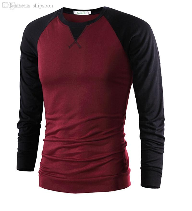 Wholesale ! Fashion Brand Mens Clothing Long Sleeve T Shirt ...