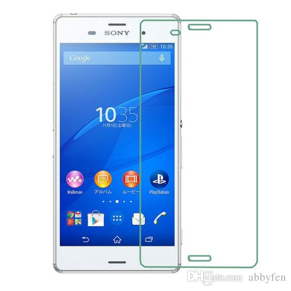 For Sony Xperia Z3 Xperia Z2 L50 Compact Z3 Z4 Z1 Mini M2 T2 T3 Tempered Glass Screen Protector 9H Explosion Proof Glossy Anti Scratch Glass
