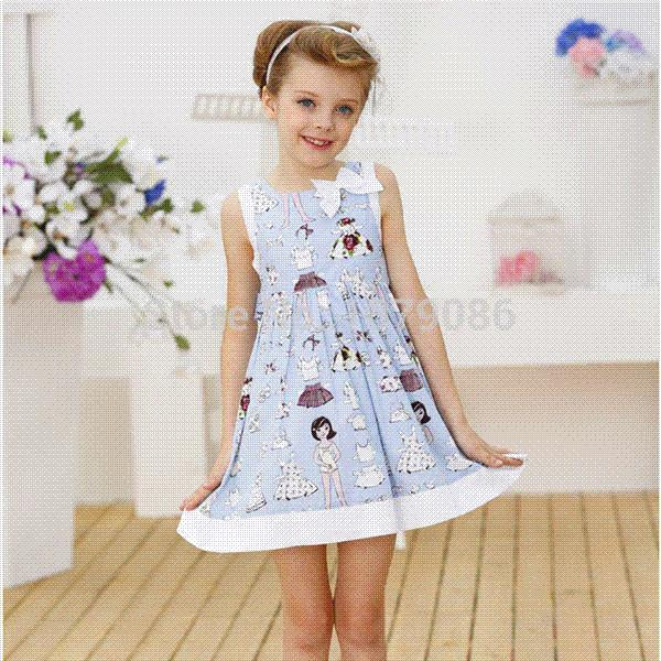 2018 2015 New Fashion Sexy Girls Without Dresses   Printed Dressing Clothes  Blue Cotton Teen Children Wear With From Aitaobao   123 59   Dhgate Com. 2018 2015 New Fashion Sexy Girls Without Dresses   Printed
