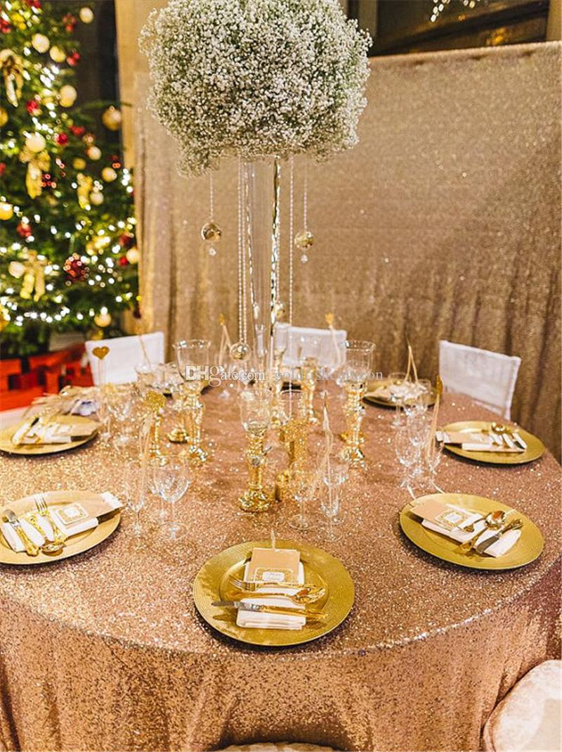 120gold Sequin Tablecloth Hot Sale Glitter Sequin Table Cloth For ...