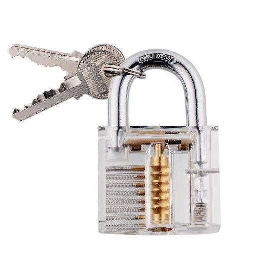 قفل اختيار مجموعة ، مجموعة التدريب اختيار قفل ، مرئي مجموعة تدريب قفل مع أدوات 15 قطعة وقفل الممارسة شفافة