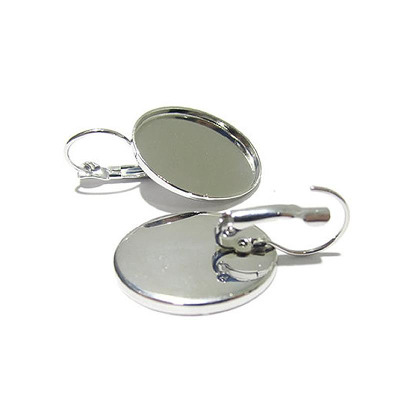 Beadsnice blank earrings base with lever backs fits 18x25mm oval cabochon earring components wholesale diy earrings ID 12111