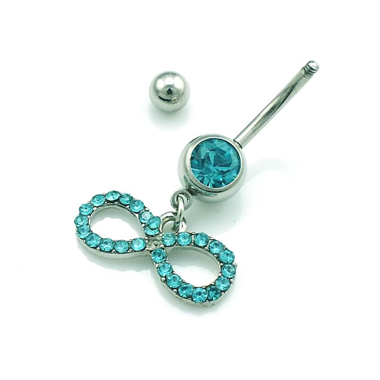 Newly Sale Fashion Navel Rings Stainless Steel Rhinestone Bow Glyph Belly Button Rings Body Piercing jewelry