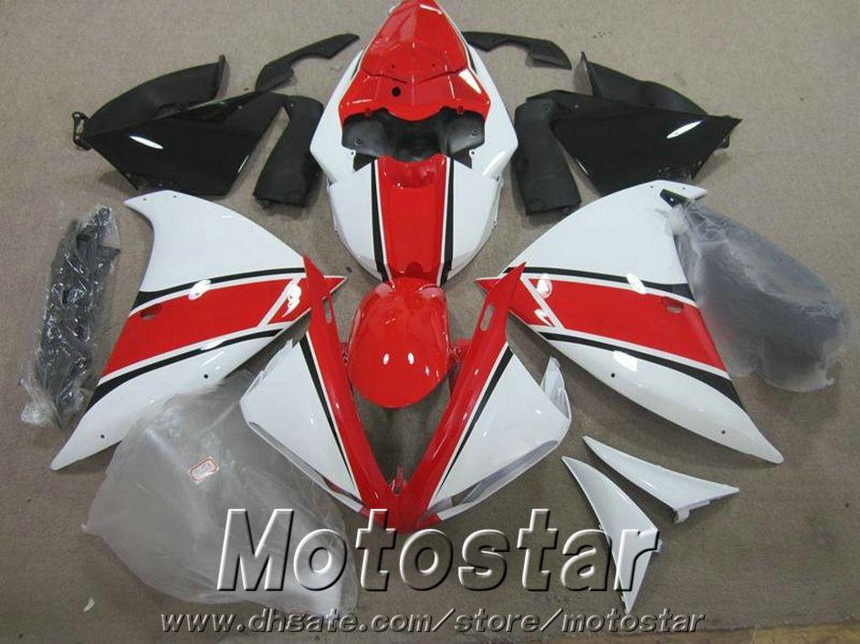 7 free gifts fairing kit for YAMAHA R1 2009-2013 black red white fairings set YZF R1 09 10 11 12 13 HA42