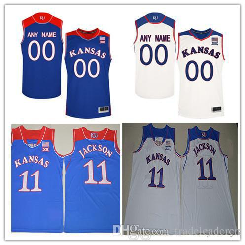 42a19e7a762 2019 Custom Mens Kansas Jayhawks College Basketball Royal Blue White  Personalized Stitched Any Name Number Customized #22 #11 Jerseys S 3XL From  ...