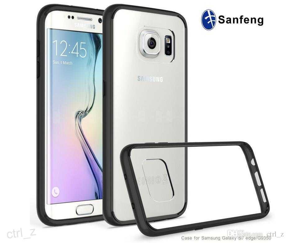 Étui Smartphone S7 Bord Cas Full Cover Case Cadre Arcylic Soft Tpu  Transparent Transparent Case Cover Skin Shell Pour Samsung Galaxy S7 G9300  Étui Téléphone ... c454c244feb7