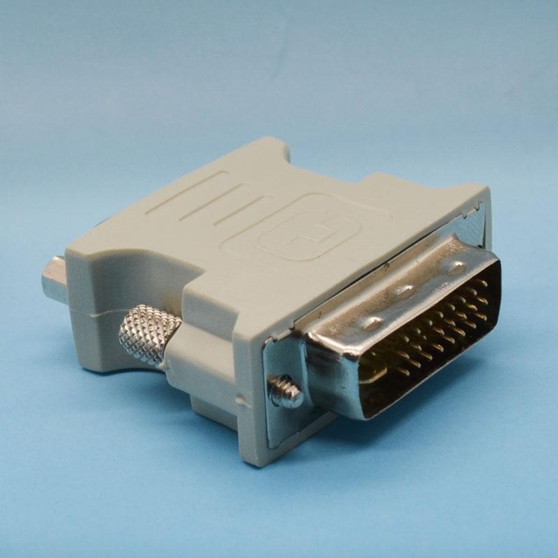 Altın kaplama DVI VGA konnektör DVI 24 1 Çift Bağlantı erkek VGA dişi Adaptör Dönüştürme Kablosu HDTV TV için Drop Shipping