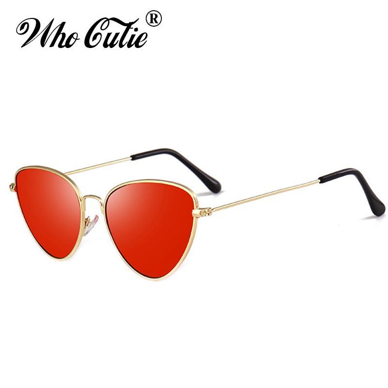 bc94031dc0864 WHO CUTIE 2018 Cat Eye Tint Sunglasses Women Brand Designer Retro ...