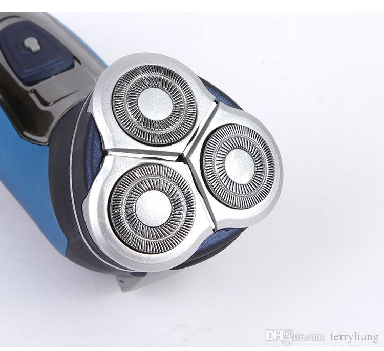 220v più nuovo 3 teste galleggiante rasoio elettrico tripla lama rasoio da barba ricaricabile elettrico faccia gli uomini 3d trimmer barba galleggiante