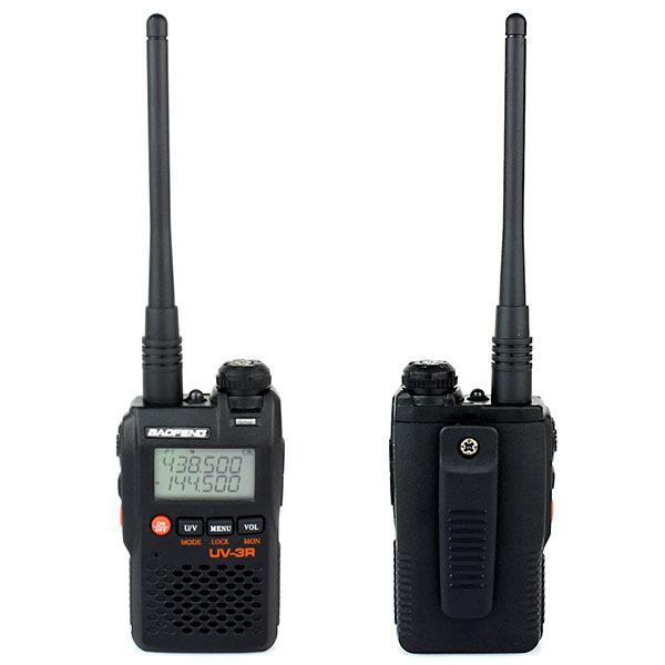 Новый черный Walkie Talkie Baofeng УФ-3R Dual Band 136-174MHz 400-470MHz 2W 99CH VOX DTMF Two Way Радио Коммуникатор A1070A