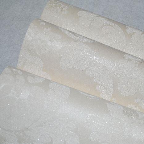 Acheter Bureau Blanc Glitter Floral Papier Peint Papier Peint De