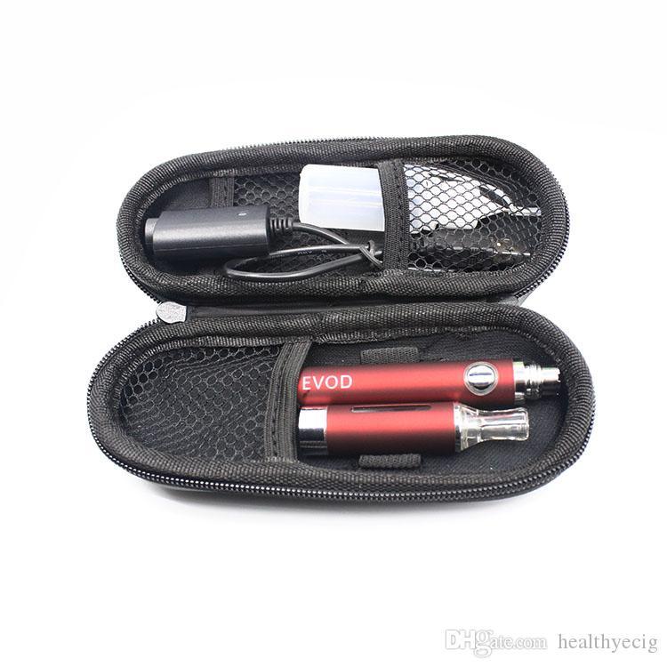 Kit di sigarette EVOD E Ecig Variabile Voltage 3.2V-4.2V 650mah 900mah 1100mAh Batteria MT3 Atomizzatore Kit chiusura lampo kit E Cig