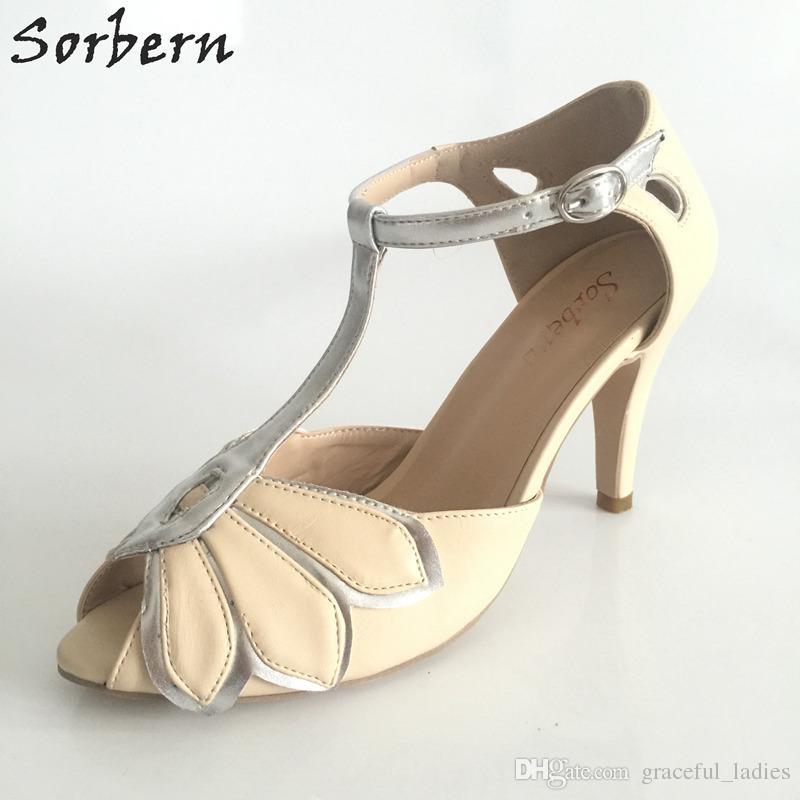 "Vintage Mint Wedding Shoes Wedding Pumps Mimosa T-Straps Buckle Closure Leather Party Dance 3"" High Heels Women Sandals Short Wedding Boots"