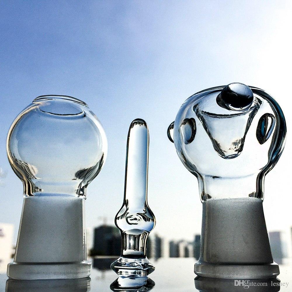 Triple Percolator en un bongs Tubos de agua pequeños doblados Tubos de agua de vidrio percolador Honeycomb con domo de uñas WP176