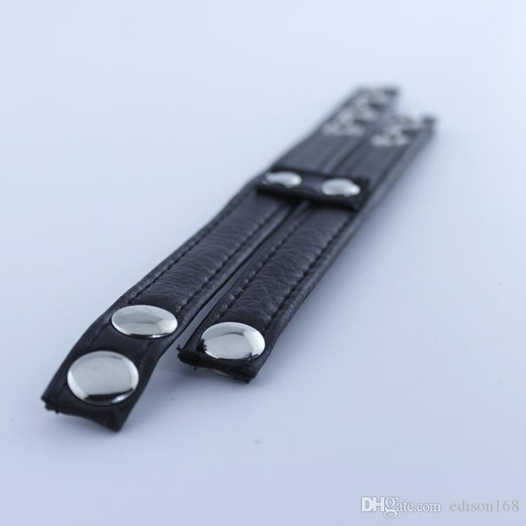 2018 Latest Design Male Adjustable Leather Scrotum Cock penis bondage belt Chastity Belt Device BDSM Adult product Sex toy A141