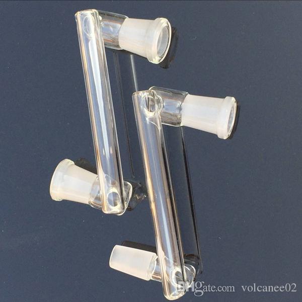 Schüssel Adapter für Bong oder Quarz Banger Nagel 18mm 14mm Adapter männlich weiblich mit Schleifmund 14mm 18mm Klarglas Adapter Konverter