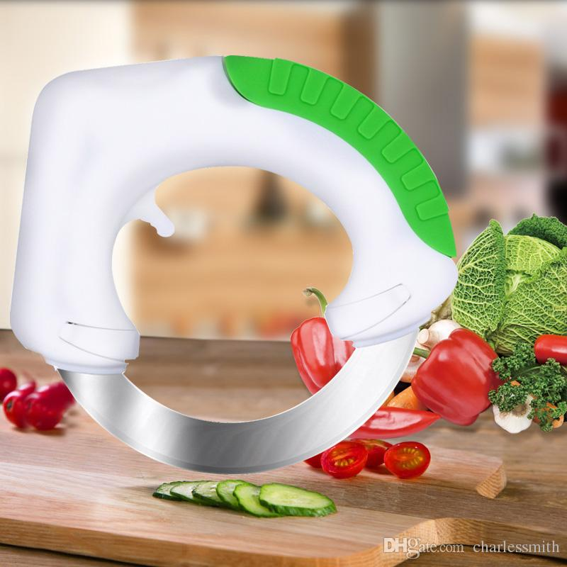best rotatable round shape kitchen knives multifunction stainless