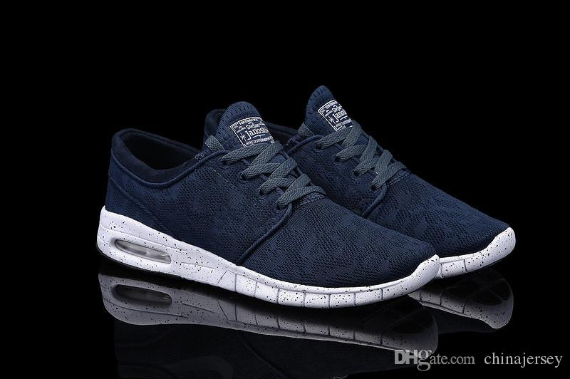 Women Nike SB Stefan Janoski Max Light Dark Blue White Shoes