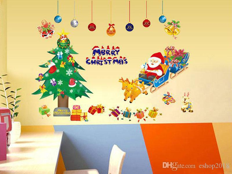 2015 Wall Stickers New Christmas Santa Claus Third Generation Pvc ...