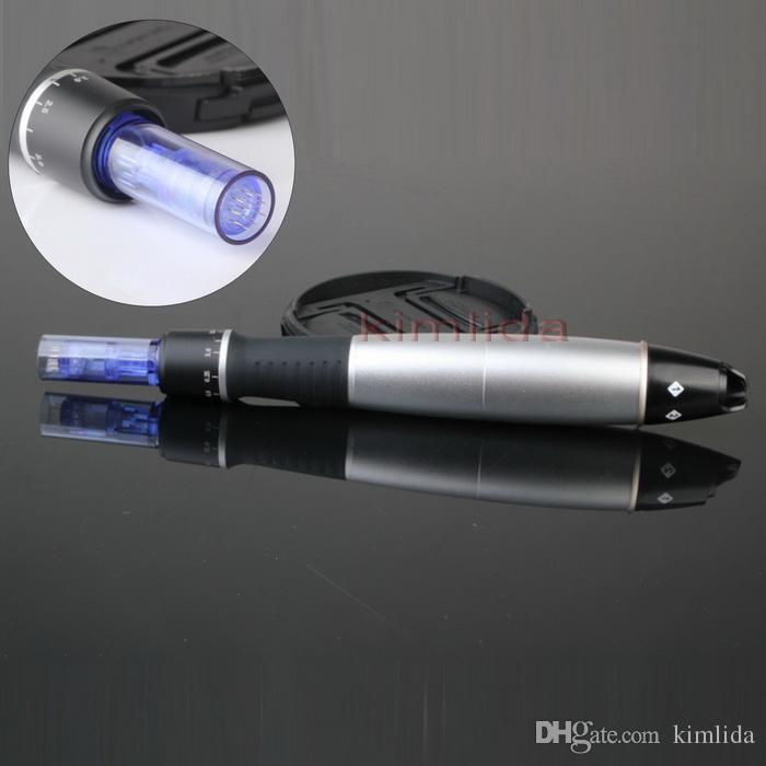 Dr. Pen Derma Pen Auto Microneedle نظام قابل للتعديل أطوال الإبرة 0.25 مم -3.0 مم الكهربائية ديرما Dr.Pen Stamp السيارات مايكرو إبرة الأسطوانة