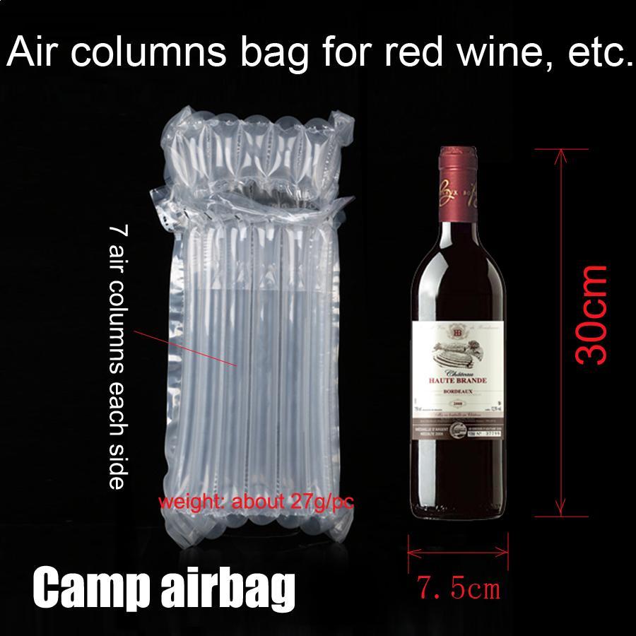 Aufblasbare Weinflasche 30 cm Luftstausack Air Cushion-Säule 3 cm Verpackungs-Beutel Buffer Bag Schützen Sie Ihr Produkt Fragile Waren
