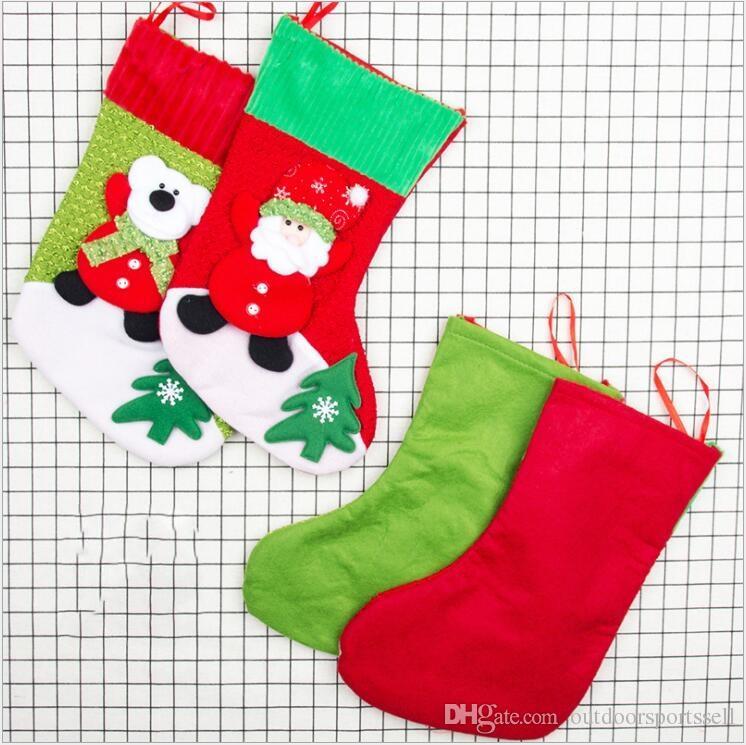 Christmas socks gift bags corduroy Christmas decorations beautiful Christmas tree pendant decorations supplies factory price dhl free