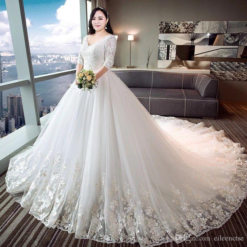 compre 2017 plus size para mujeres gordas vestido de novia xl 4 xl