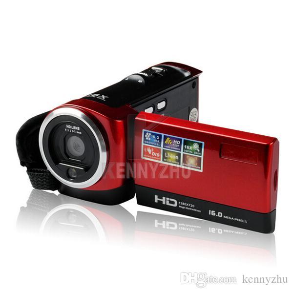 "New Camcorder CMOS 16MP 2.7"" TFT LCD Video Camera 16X Digital Zoom Shockproof DV HD 720P Recorder Red Black"