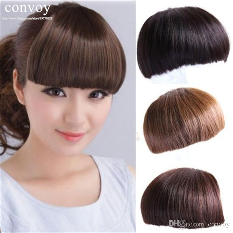 Fashion womens neat front hair bangs fringes heat resistant fashion womens neat front hair bangs fringes heat resistant synthetic straight bang hair extension hairpiece accessories lh16 wavy long hair with bangs pmusecretfo Image collections