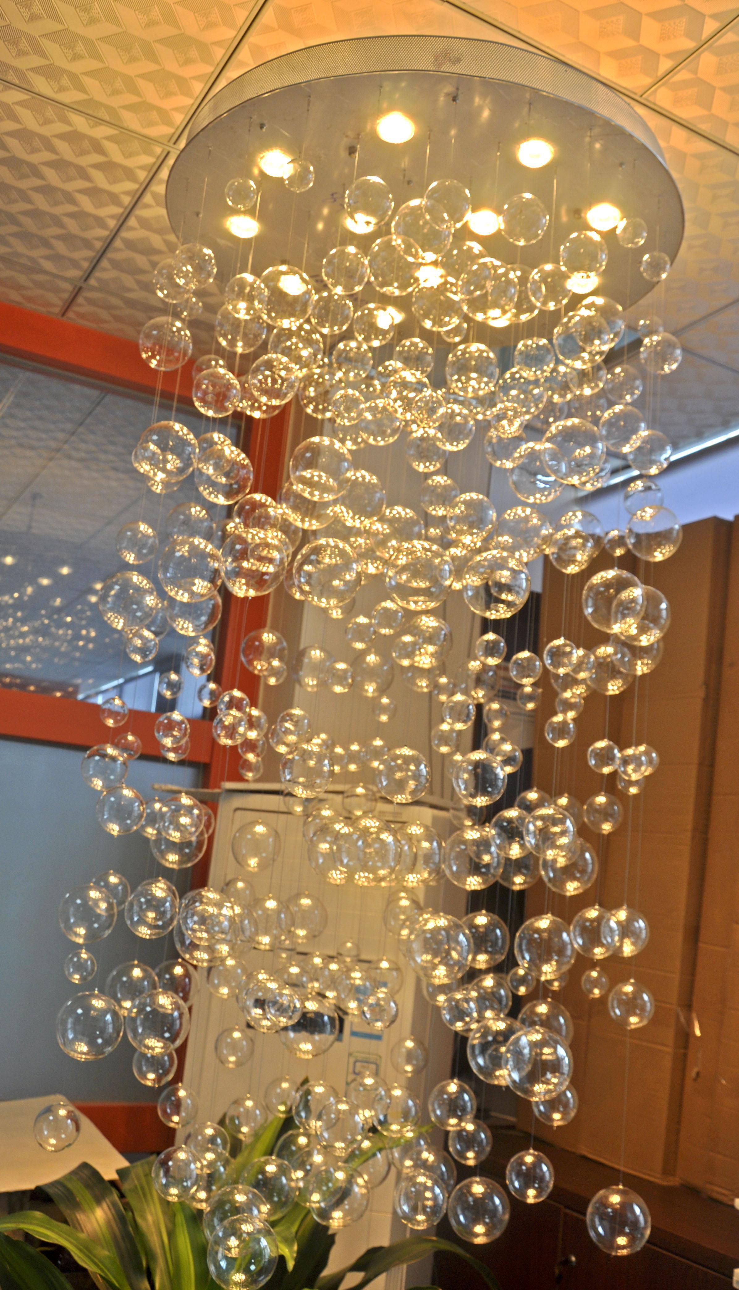 Modern Art Clear Glass Ball Hanging Lamp Modern Design Glass