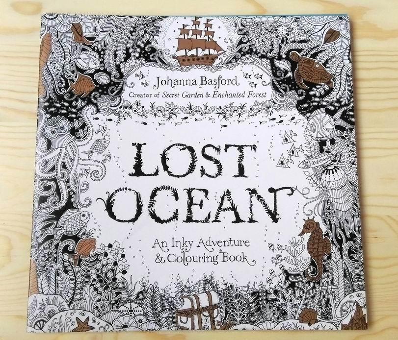 dhl free lost ocean english edition coloring books for children adult relieve stress creative therapy doodling drawing books colouring books color book from