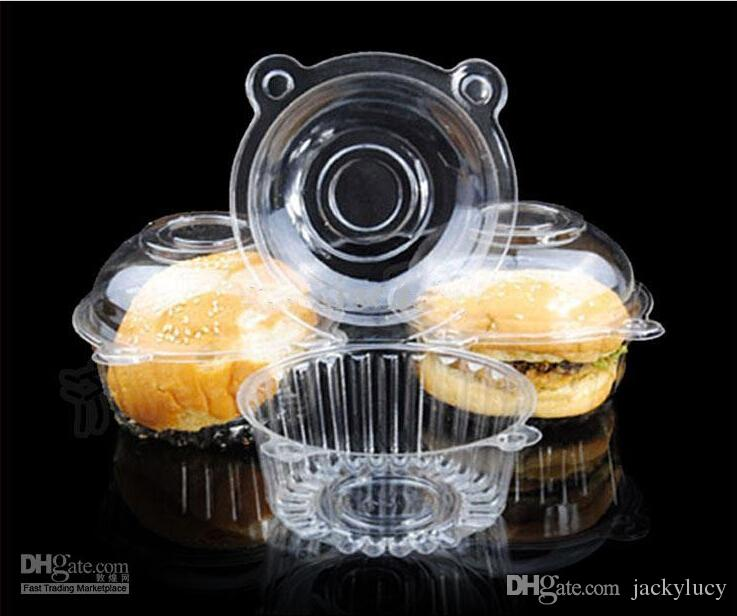 Hot Sale Oxytropis Clear Plastic Cupcake Puff Box For Wedding Xmas Birthday Table Decoration Party Favor Holder