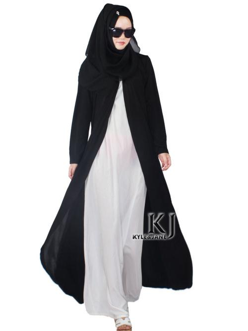 2015 New Women Black Long Cardigan Loose Thin Outwear Plus Size ...