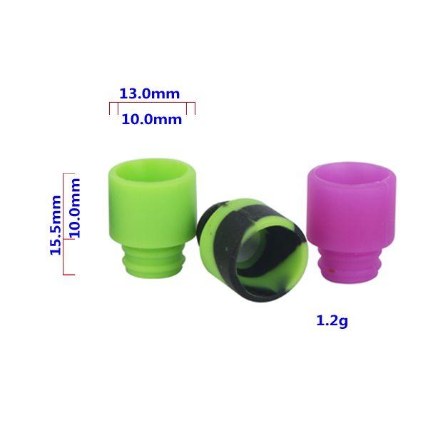 Las más nuevas puntas de silicona Puntas de goteo de orificio ancho para 510 EGO Atomizador Boquilla Kanger protank subtanque rda E Cigarrillos Vaporizador vape mods
