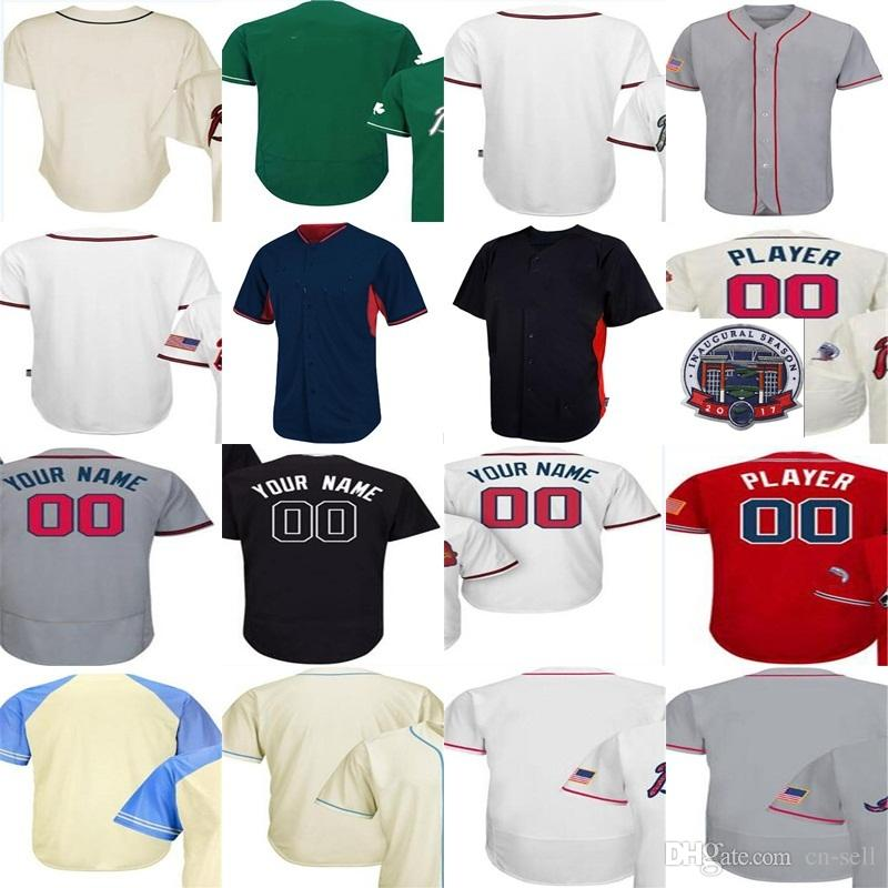 89080b4d8 ... clearance mens womens kids atlanta home 2017 flex base coolbase custom  any name number baseball jersey