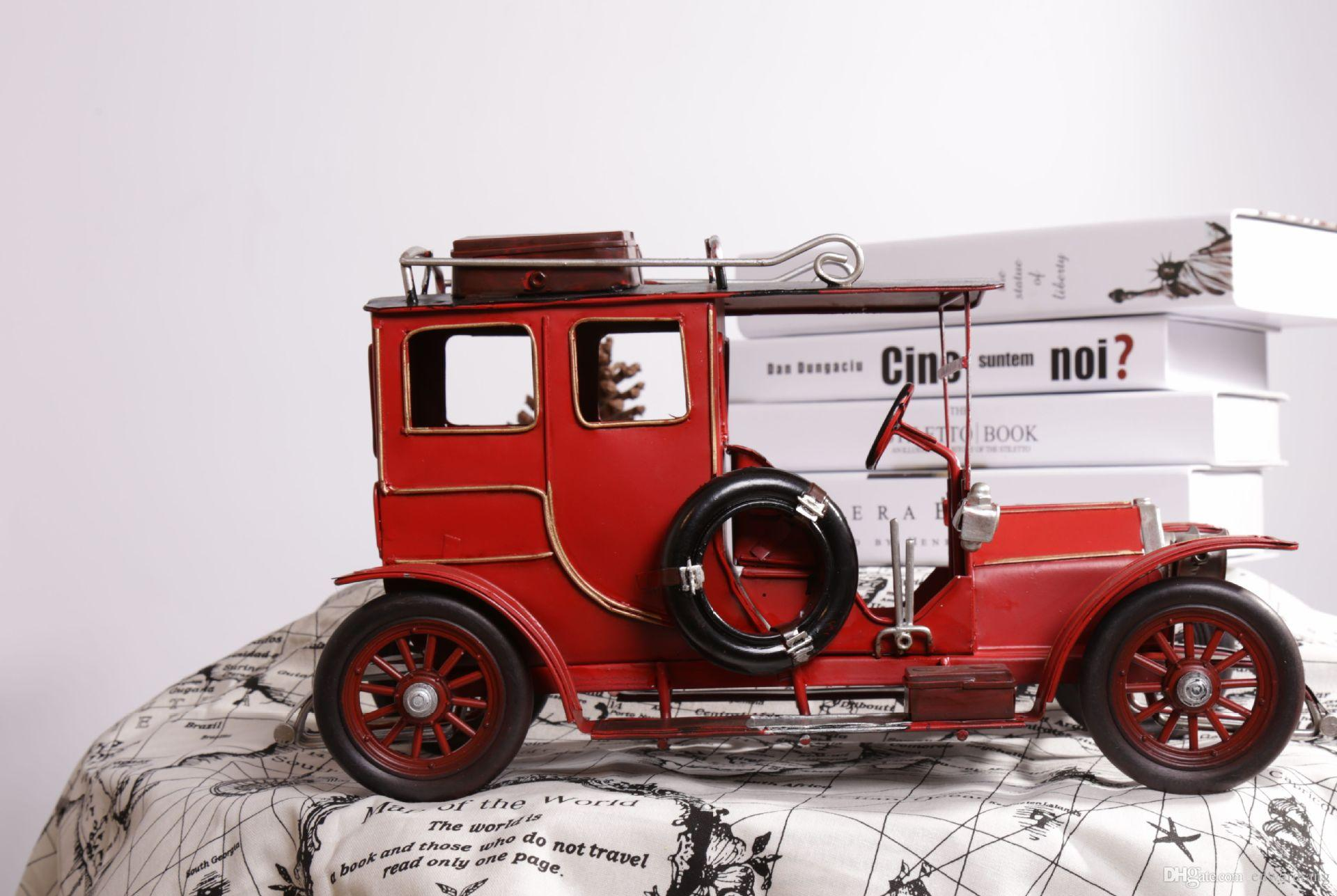 2018 Tinplate Car Model, Classic English Tour Bus,Purely Manual ...